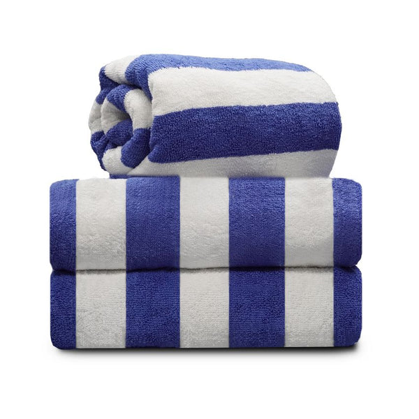 CABANA POOL TOWEL / BLUE STRIPE / 30 X 60 / 9.00 LBS (DOZEN) (5 DZ/CS)