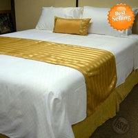 GANESH / BED RUNNER / 110 X 27 / JACQUARD GOLD (EACH)