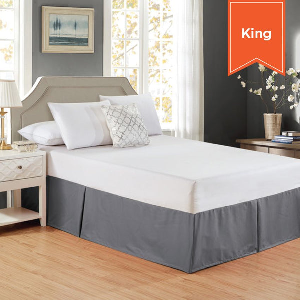 BED SKIRT / CASTLE ROCK GREY / KING / 78 X 80 X 15 (EACH)