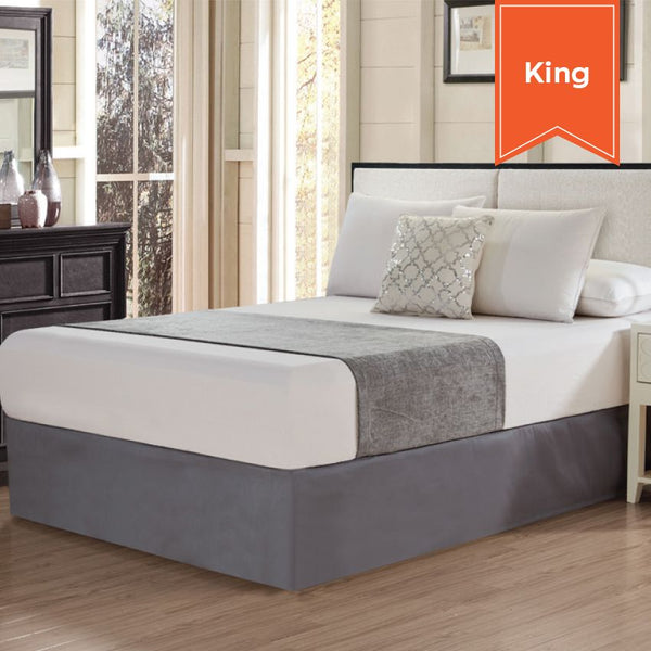 CHENILLE BED SCARF / KING / CASTLE ROCK GREY / 26 X 108 (EACH)