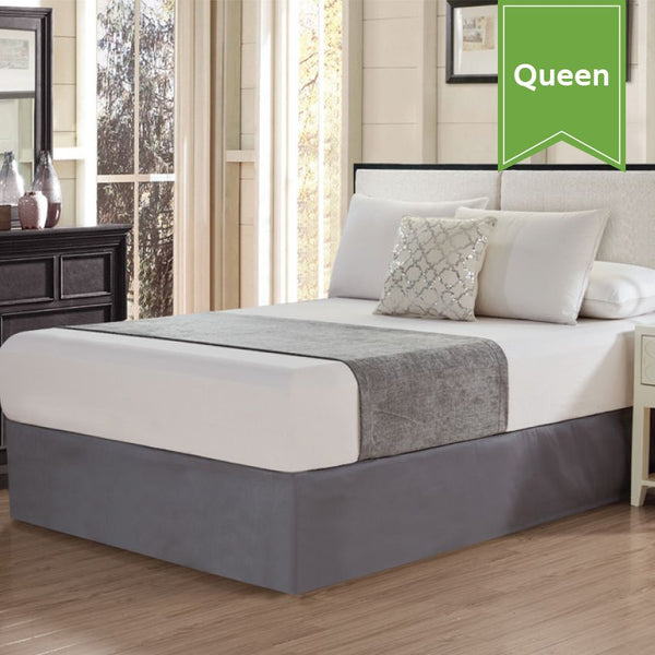 CHENILLE BED SCARF / QUEEN / CASTLE ROCK GREY / 26 X 94 (EACH)