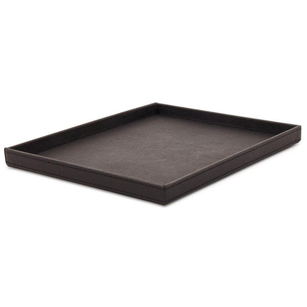 "ROOM TRAY / HUDSON LEATHERETTE COLLECTION / LARGE TRAY / 11"" X 13"" / BLACK"