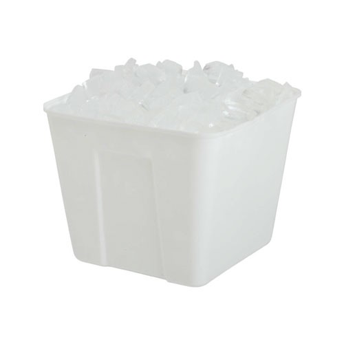 ICE BUCKET / 1.5 QUART / SQUARE / WHITE / EACH (48/CS)