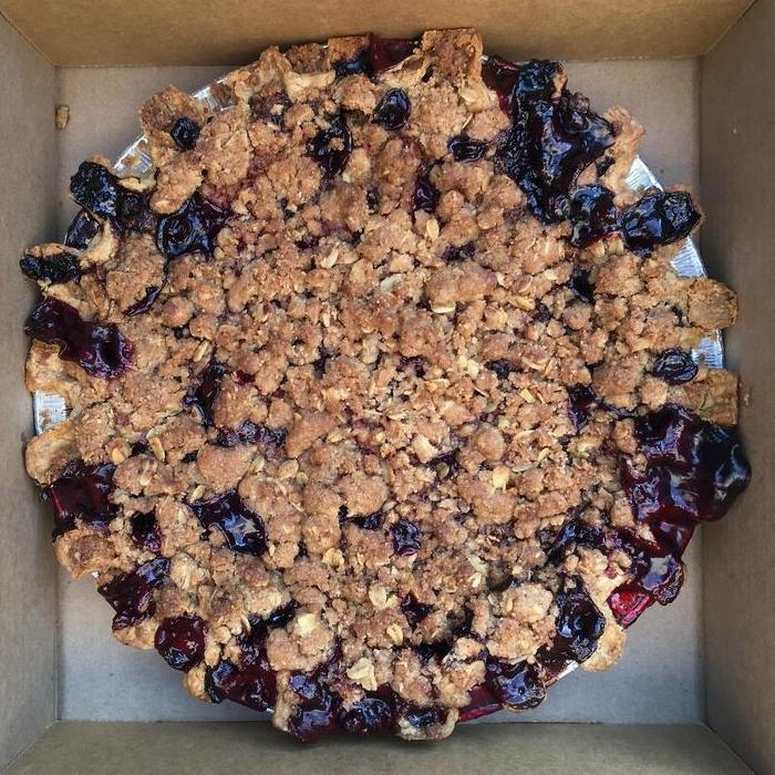 Vegan Cherry Blueberry Crumble
