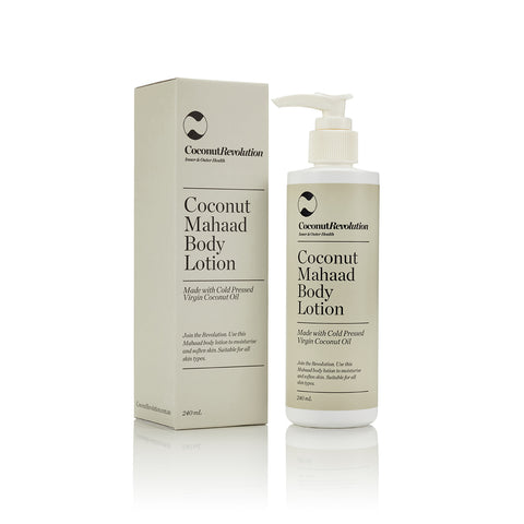 coconut oil mahaad body lotion for dry skin.
