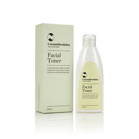 coconut revolution mild facial toner for sensitive skin preparation.