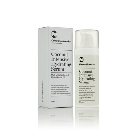 coconut oil intensive hydrating serum for moisturizing of sensitive skin.