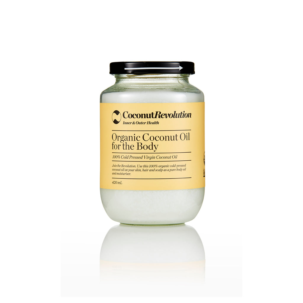100% cold pressed, organic, virgin coconut oil.  Use this on your skin, hair and scalp as a pure body oil and moisturizer.