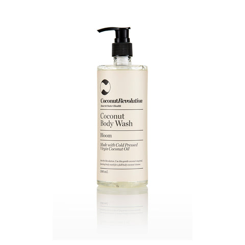 coconut oil gentle body wash for body cleansing of itchy, sensitive and dry skin