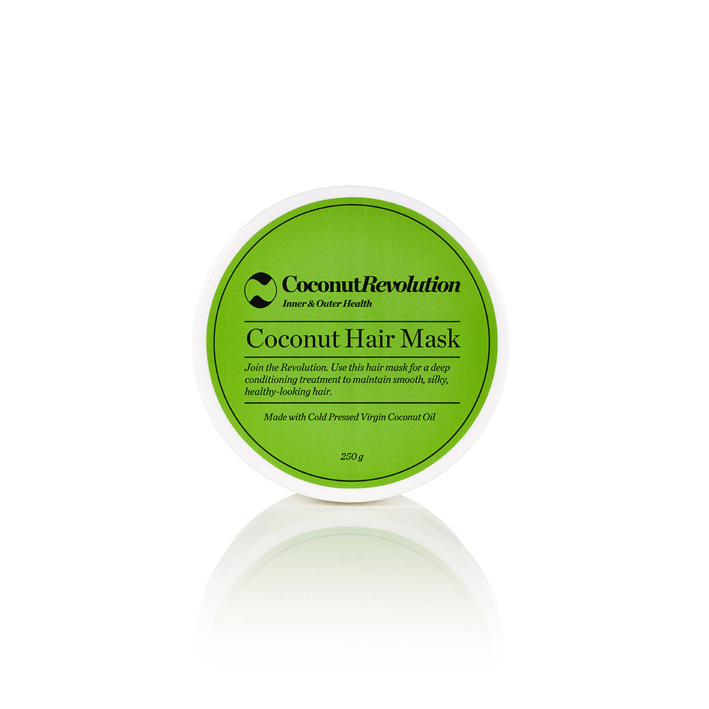 coconut oil deep conditioning hair treatment for itchy, dry scalp and shiny hair.