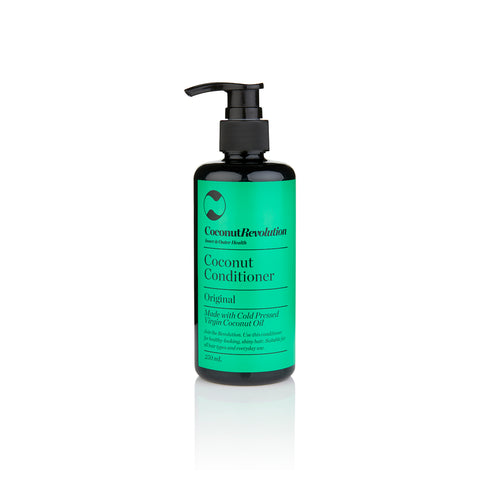 coconut oil conditioner original for itchy, dry scalp and shiny hair.