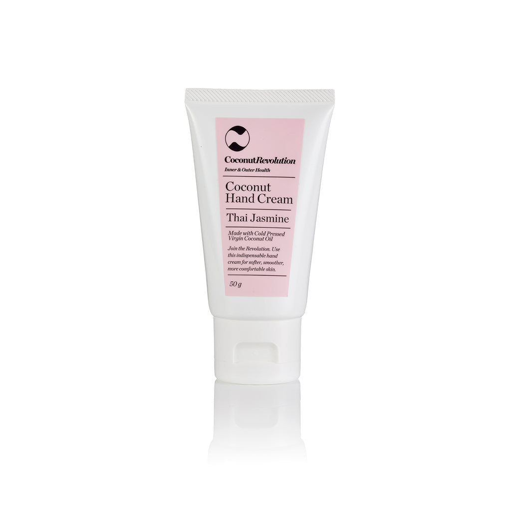 coconut oil hand cream for sensitive and dry skin.