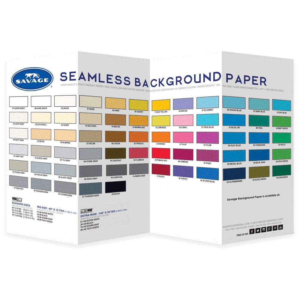 Savage Seamless Paper Color Chart