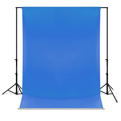 Chroma Key Blue Hand Painted Canvas Backdrop