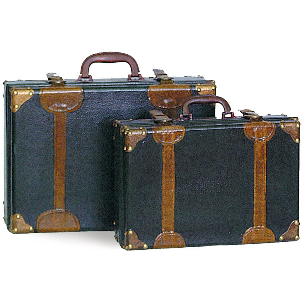 set of 2 vintage suitcase props