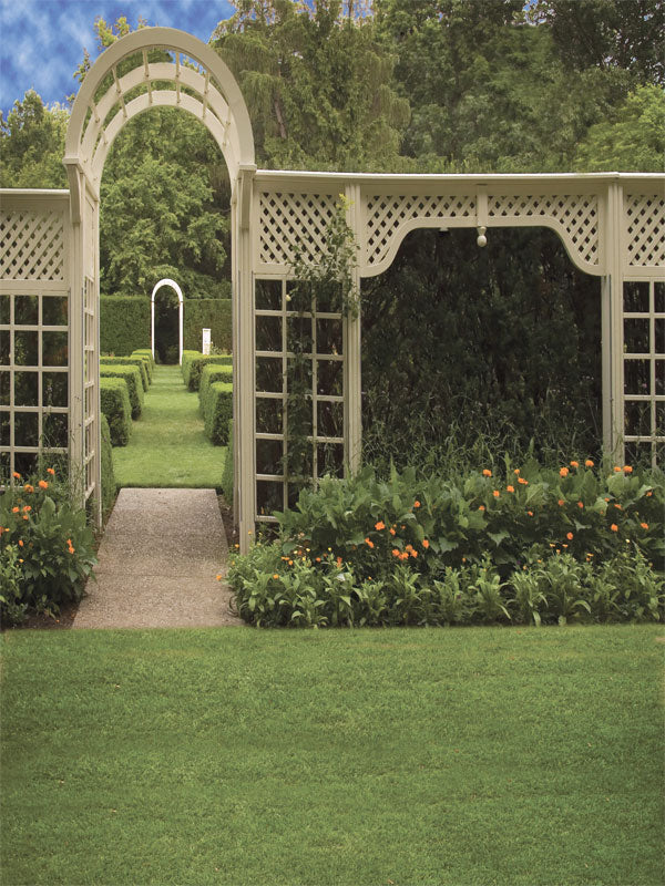 Garden Trellis Printed Photography Backdrop