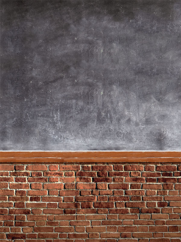 Schoolhouse Brick Printed Photography Backdrop