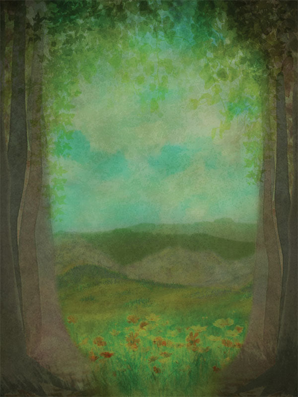 Painted Forest Printed Photography Backdrop