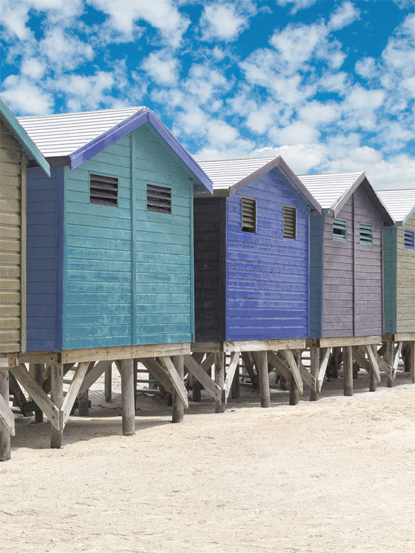 Beach Bungalows Printed Photography Backdrop