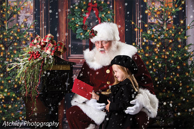 Christmas Market Printed Photo Backdrop