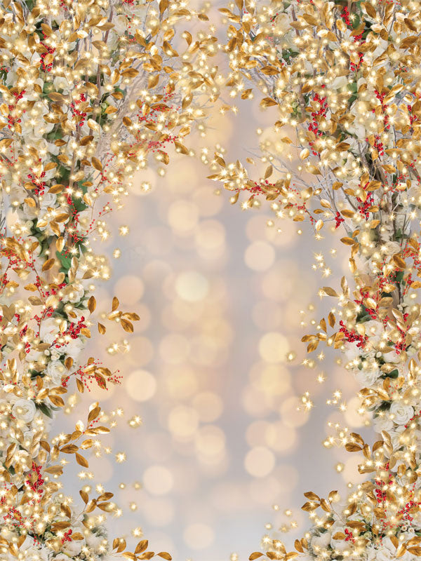 Glistening Christmas Printed Photo Backdrop