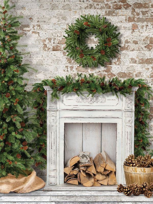 Cottage Christmas Printed Photo Backdrop