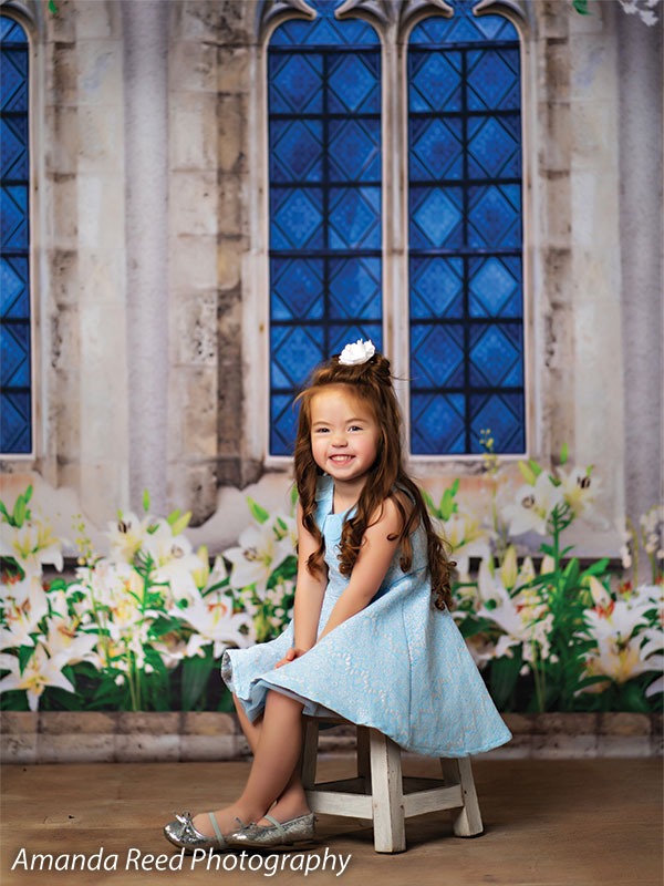 Easter Lilies Printed Photo Backdrop