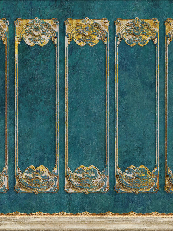 Fancy Teal Wall Printed Photo Backdrop