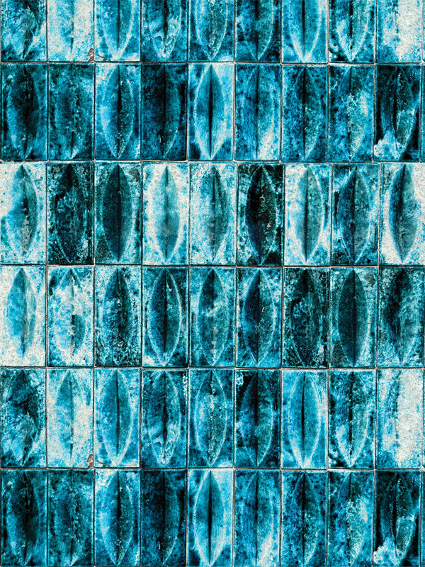 Teal Abstract Wall Printed Photo Backdrop
