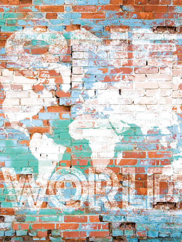 World Brick Wall Printed Photo Backdrop