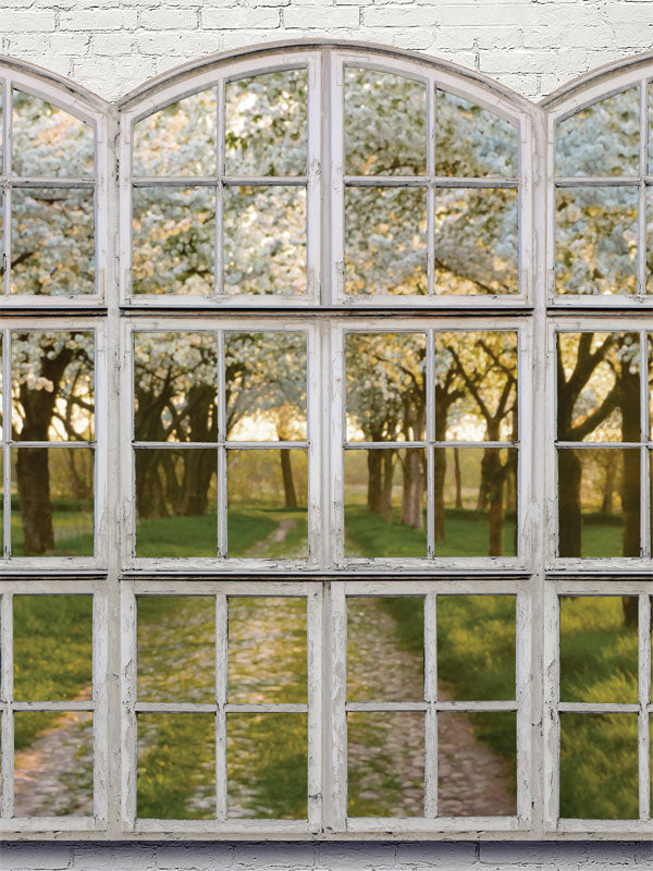 Spring Window Printed Photo Backdrop