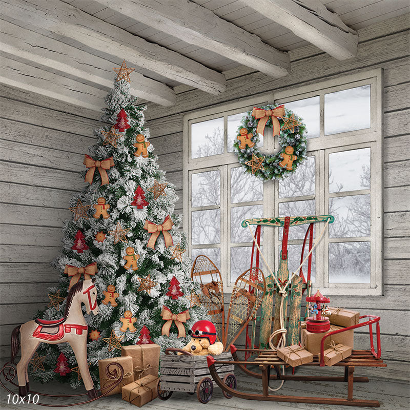 Christmas Treasures Printed Photo Backdrop