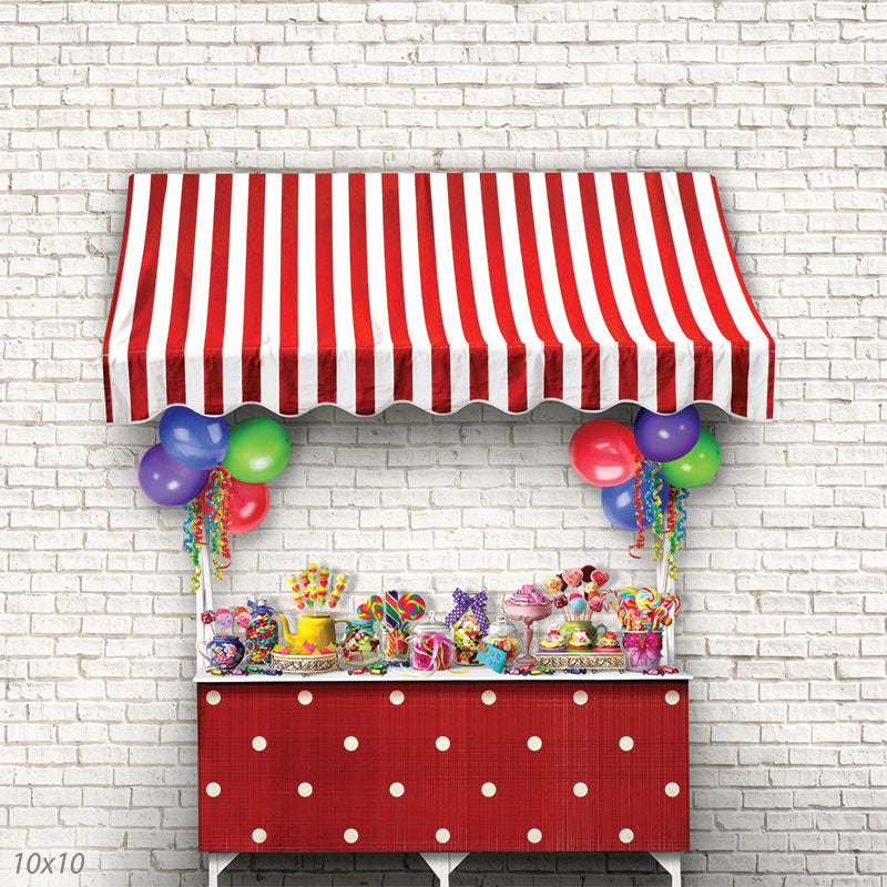 Red Candy Baby and Children Backdrop for Photography