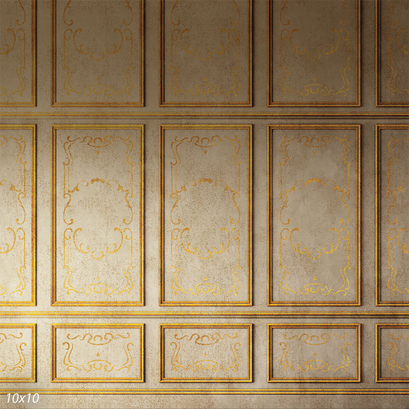 Princess Gold Faux Wall Back Drop