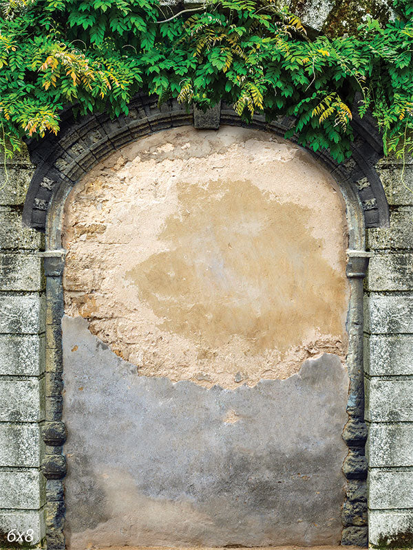 Plaster Arch Wall Printed Backdrop