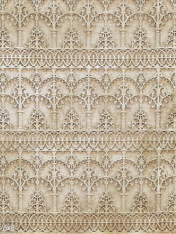 Carved Wall Printed Backdrop