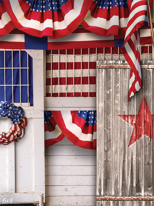 4th of July Door Backdrop
