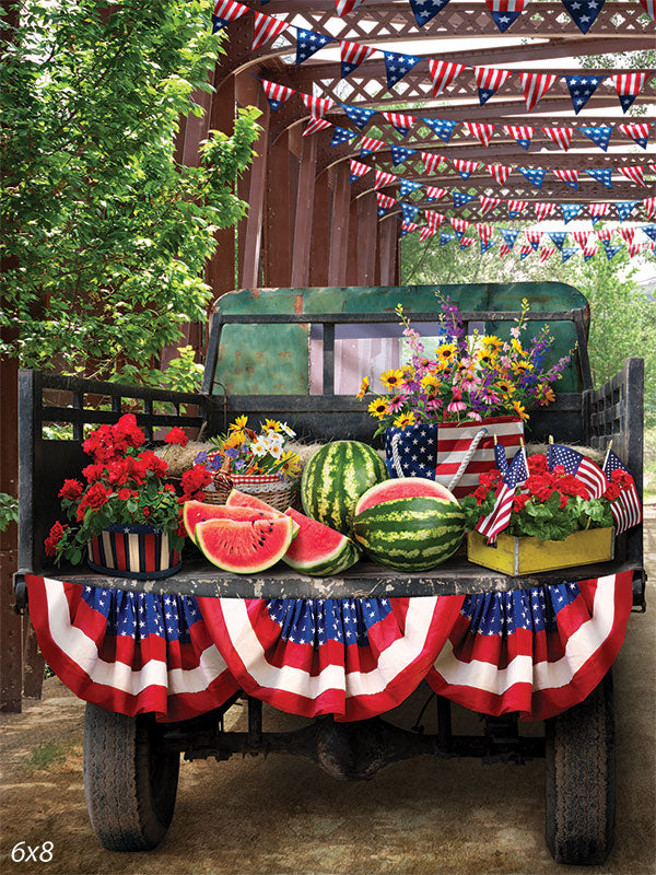 Watermelon Truck Backdrop
