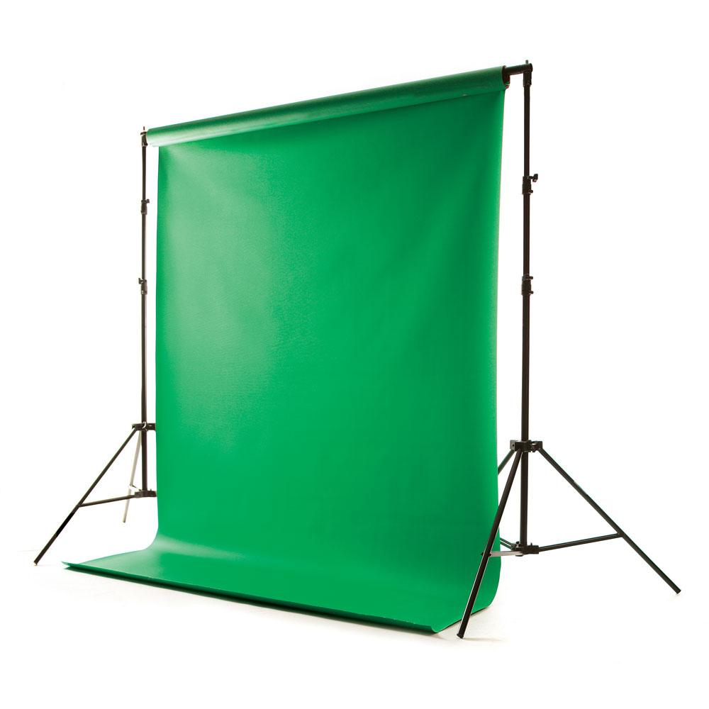 Green Screen Hand Painted Canvas Photography Backdrop