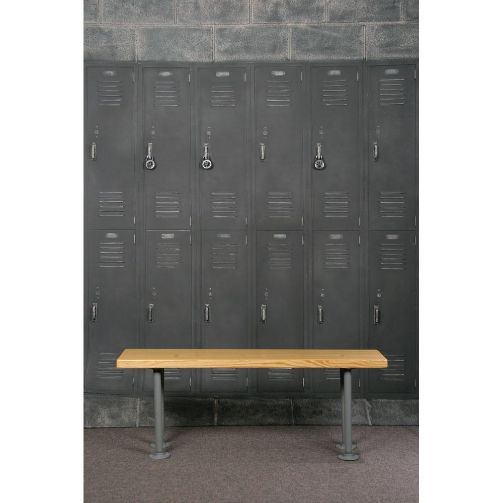 School Locker Room Bench Prop Agaisnt Locker Room Backdrop