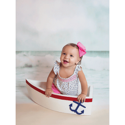 Toddler Photo in Boat Prop