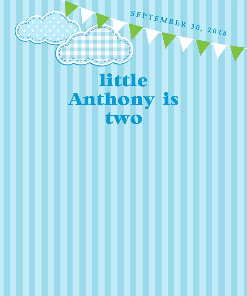 Custom Boy Birthday Backdrop