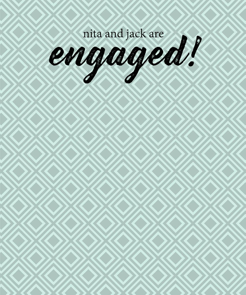 Patterened Engagement Party Backdrop