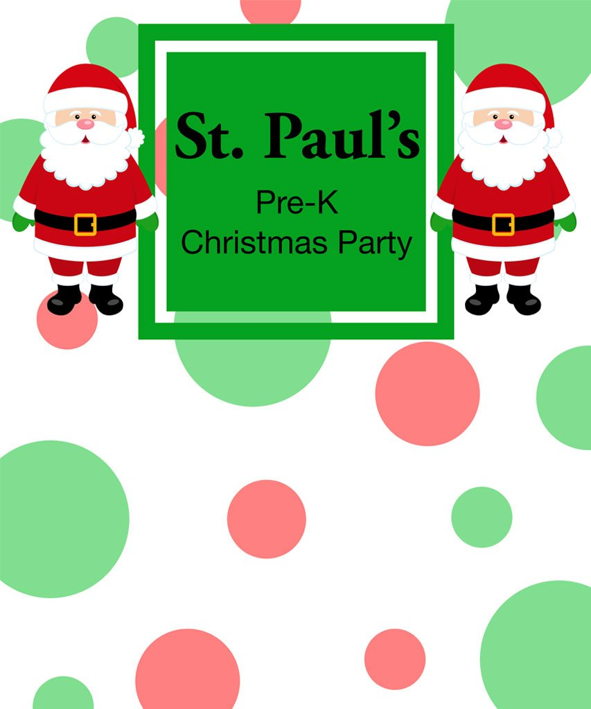 Santa Christmas Party Photo Backdrop