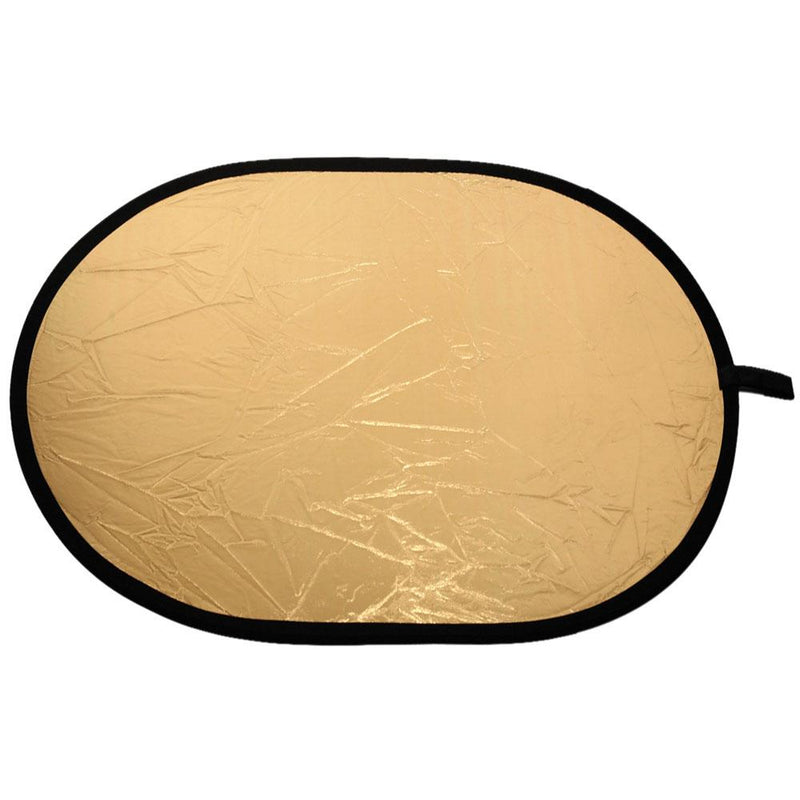 Collapsible Oval Gold/Silver Reflector