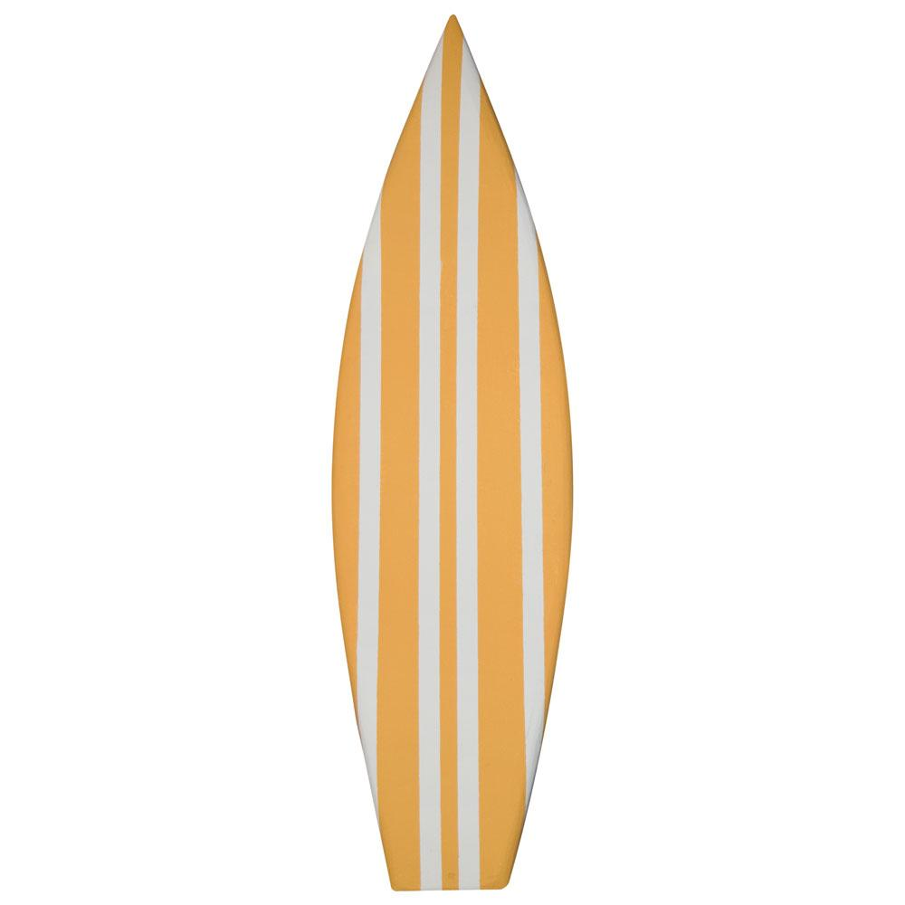 yellow striped surf board prop