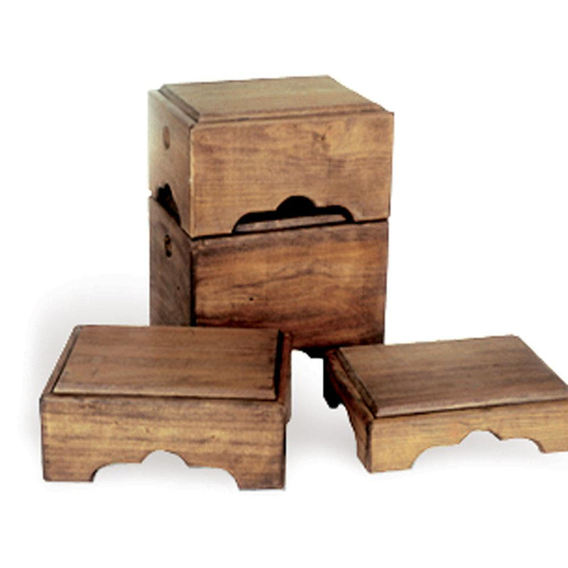 Wood Stack Stool Prop Set