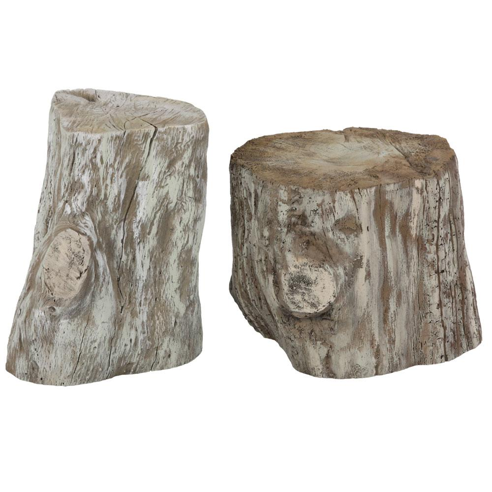set o f2 tree stump props
