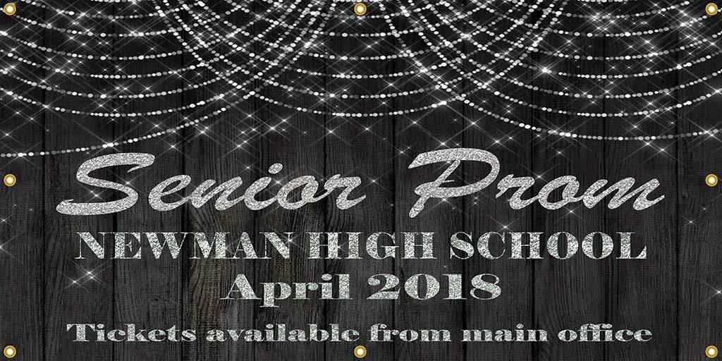 Senior Prom Vinyl Banner - The Backdrop Store