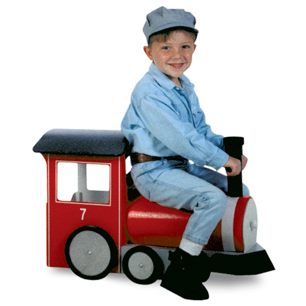 Red childrens train prop
